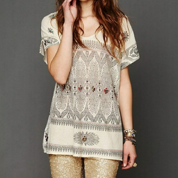 d7c25fcbf3b91 Free People Tops - Free People New Romantics Byzantine Beaded Top